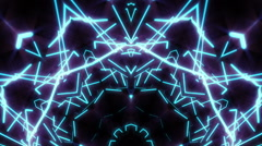 Neon lasers kaleidoscope visual Stock Footage