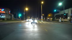 4K Driving Plates Hollywood Highland Ave Rear View 02 North bound at Melrose  Stock Footage