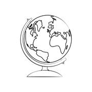 Planet icon. Sphere design. Vector graphic - stock illustration