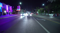 4K Driving Plates Hollywood Highland Ave Rear View 03 North bound at Highland Stock Footage