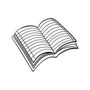 notebook icon. learning design. Vector graphic - stock illustration
