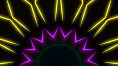 Strobe lasers kaleidoscope visual Stock Footage