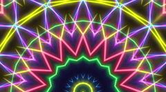 Neon lasers kaleidoscope visual - stock footage