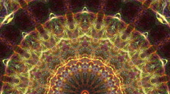 Particles kaleidoscope stage visual - stock footage
