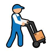 Delivery man icon. Delivery and Shipping. Vector graphic - stock illustration