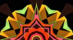 Polygonal strobe kaleidoscope loop Stock Footage