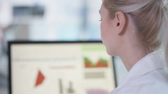 4K Athlete in science research program being tested by scientist in hi tec lab Stock Footage