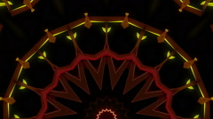 Neon kaleidoscope stage visual Stock Footage