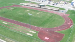 Summer Aerial of Track and Field Course - Race track - stock footage