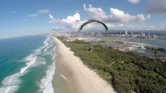 Powered Paraglider Beach Flying Stable 4K #5 Stock Footage