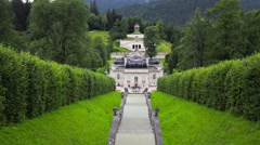 Linderhof Palace in Germany Stock Footage