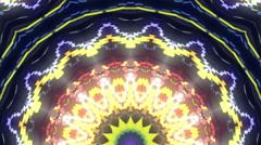 Snakes kaleidoscope stage visual - stock footage