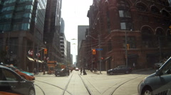 POV driving and stuck in downtown Toronto traffic gridlock - stock footage