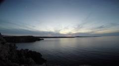 Landscape Arenal d'en Castell, Punta Grossa - Menorca - Spain Stock Footage