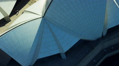 Aerial view of Sydney Opera House Australia Stock Footage