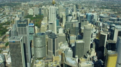 Aerial city Skyscraper vertical view of Sydney Australia Stock Footage