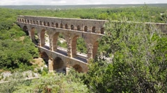 Pont du Gard in Southern France Stock Footage