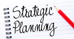 Strategic Planning written on notebook page - stock photo