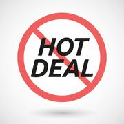 Isolated forbidden signal with    the text HOT DEAL Stock Illustration