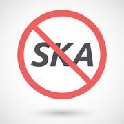 Isolated forbidden signal with    the text SKA Stock Illustration