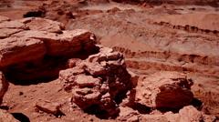 Volcanic rock in Moon Valley, Atacama Desert, Chile Stock Footage