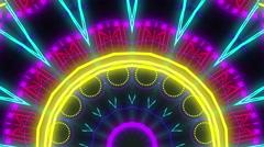 Colorful kaleidoscope visual Stock Footage