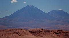 Volcano Licancabur near San Pedro de Atacama, Chile Stock Footage
