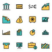 Trendy flat line icon pack for designers and developers. Vector line economic Stock Illustration