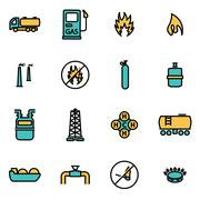 Trendy flat line icon pack for designers and developers. Vector line natural  Stock Illustration