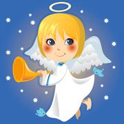 Little Angel Announcement - stock illustration