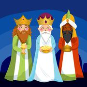 Three Wise Men Stock Illustration