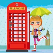London Girl - stock illustration