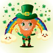 Saint Patrick Leprechaun Stock Illustration