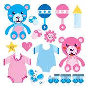 Baby Elements Collection Stock Illustration