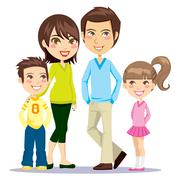 Happy Smiling Family - stock illustration