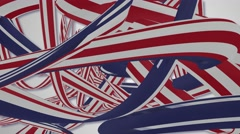 Red white and blue stripes abstract background Stock Footage
