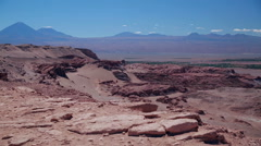 Stunning Valley of the Moon, Atacama, Chile Stock Footage