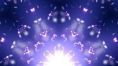 Blue kaleidoscope stage loop - stock footage