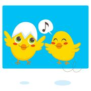 Newborn Chicks Stock Illustration