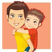 Daddy's Little Boy - stock illustration