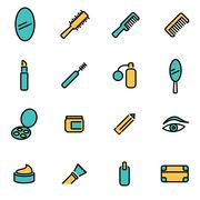 Trendy flat line icon pack for designers and developers. Vector line cosmetic Stock Illustration