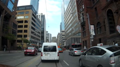 POV driving and stuck in downtown Toronto traffic gridlock Stock Footage