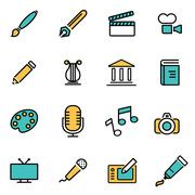 Trendy flat line icon pack for designers and developers. Vector line art icon Stock Illustration