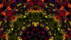Disco cubes kaleidoscope visual Stock Footage