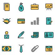 Trendy flat line icon pack for designers and developers. Vector line business Stock Illustration
