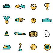 Trendy flat line icon pack for designers and developers. Vector line racing s Piirros