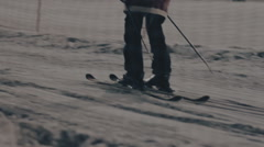 Skier lifted by ski lift Stock Footage