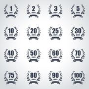 Anniversary label collection Stock Illustration