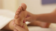 foot reflexology treatment - stock footage