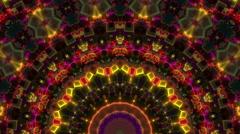 Disco cubes kaleidoscope visual - stock footage